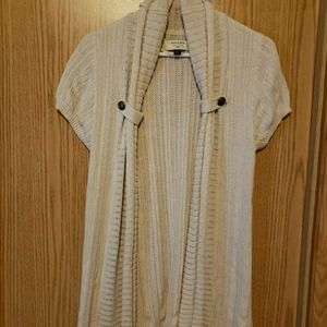 Open Front Short Sleeved Cardigan Sweater
